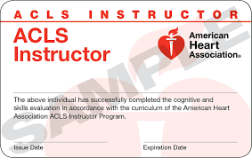 Become an American Heart Association ACLS Advanced Cardiovascular Life Support Instructor