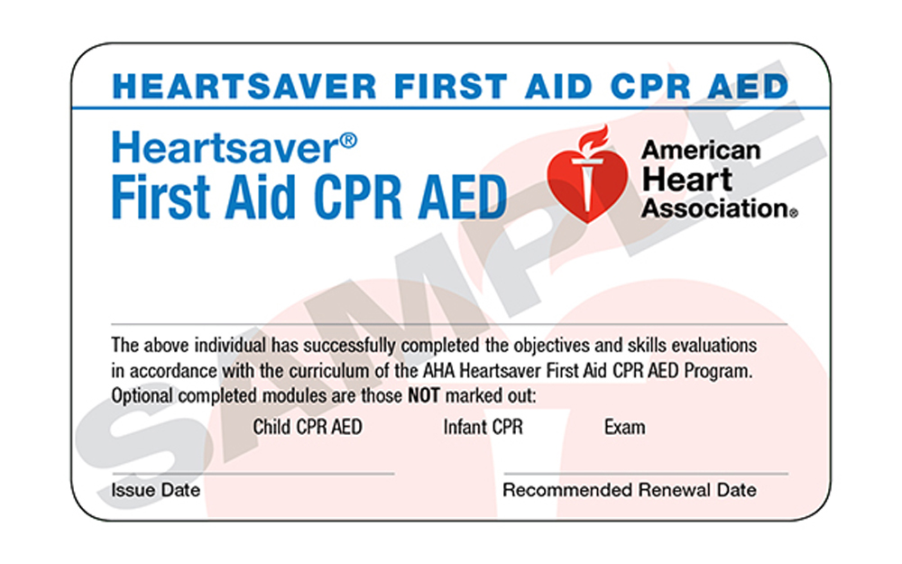 Heartsaver CPR and AED Classes in Jacksonville FL