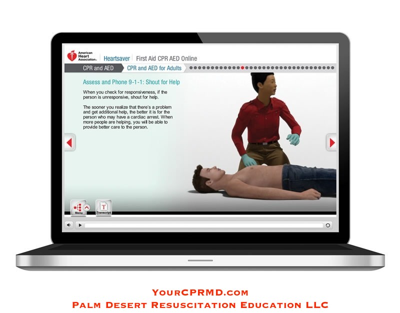 Heartsaver First Aid CPR AED Online - YourCPRMD.com